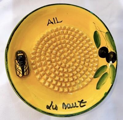 Vintage French Ceramic Grater Plate