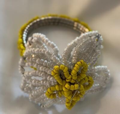 Flower Beaded Napkin Rings