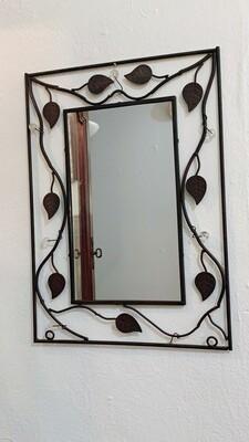 """Metal Leaf Mirror 17""""h x 13""""w"""