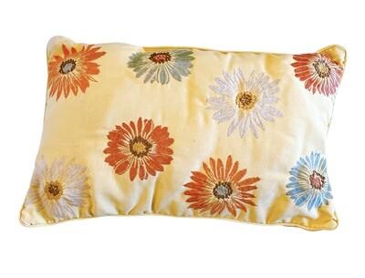 Embroidery Flower Pillow Outdoor/Indoor  17x11