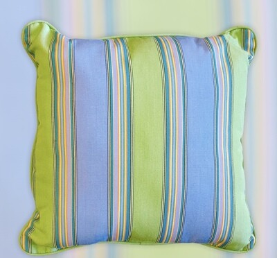 Indoor/Outdoor Sunbrella Bravada Limelite Throw Pillow