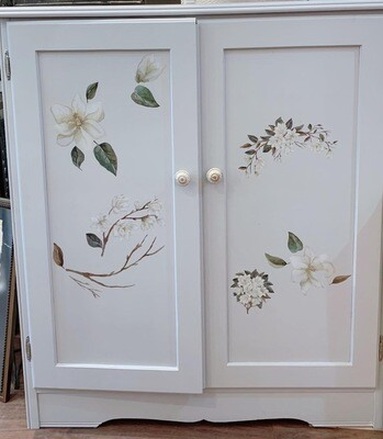 """Hand Painted Armoire 37""""w x 42.5""""h x 16""""d"""
