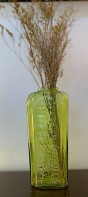 "Green Vintage Hoboken & Co Vase & Stems 8 3/4"""