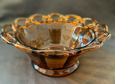 """Amber Clear Colored Glass  6"""""""