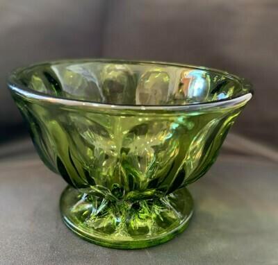 Green Pedestal dish 4x6