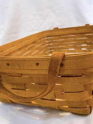 "Longaberger Rectangular with liner  Basket 13""x 9"""