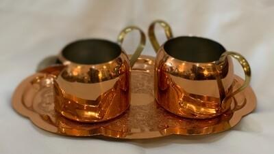 Vintage Copper Creamer and Sugar Coppercraft Guild 3 Piece Set