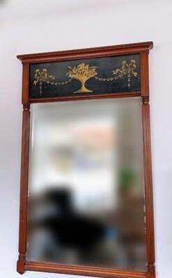 Vintage Wooden Rectangular Mirror 43 x 26
