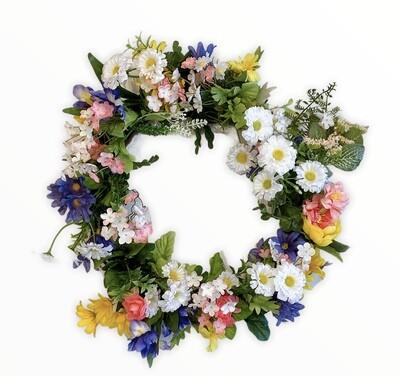 """Artificial Flower Wreath 13"""" x12"""""""