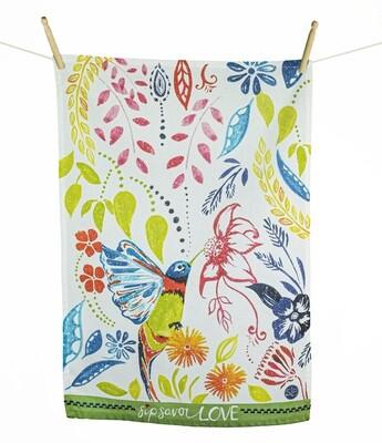 Happy Hummingbird Kitchen Towel