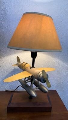 Airplane Model Desk Lamp metal/wood