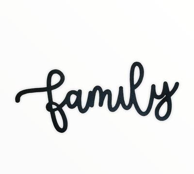 "Cursive Family Sign  11.5"""