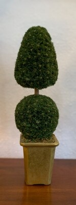 """Faux Topiary 15 """" With Gold Planter"""
