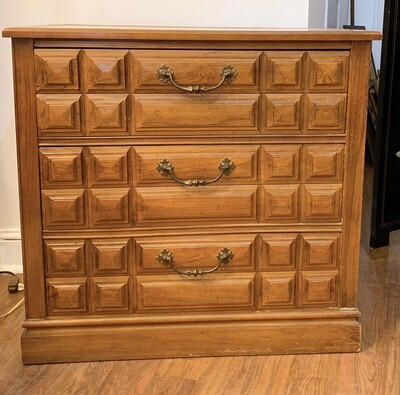 """Vintage Chest Dresser With Marble Top 30.70""""W x 16""""D x 29.25"""" H"""