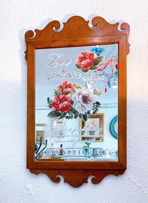 """Love Wood Mirror 19.6""""w x 32.67"""" tall"""