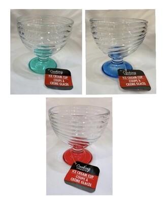Ice Cream Swirl Glass Cup