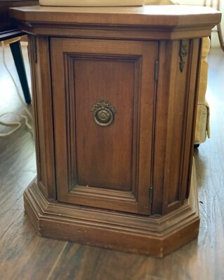 """Vintage Octagon Table 21"""" tall x 18"""" wide x 18"""" deep"""