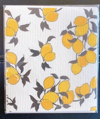 Organic Dishcloth Lemons