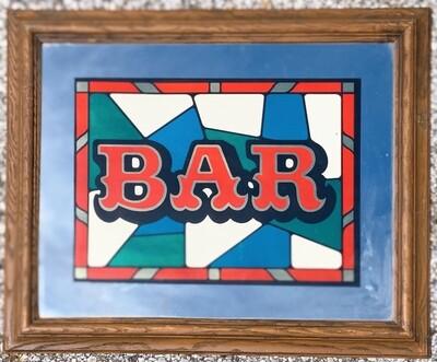 "Vintage Marsel Bar Mirror Style BM 104 (19""x 23.5"")"