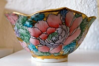 Vintage Toyo Golden Peony Design Bowl
