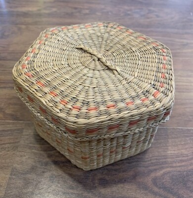 "6"" Hexagonal Woven Basket"