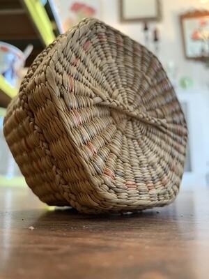 "4"" Hexagonal Woven Basket"
