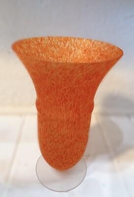 "Orange Glass Vase 9"""
