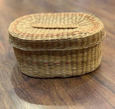 "Oval Woven Basket 5.9"""