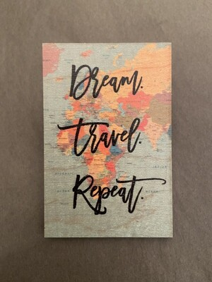 Wood Magnet Dream Travel