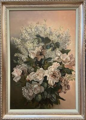 Flower Bouquet Still Life 22x30