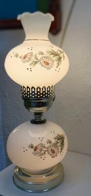 "Vintage Brass & Glass  Hurricane Lamp 15"""