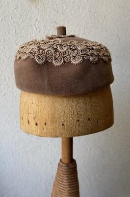 Merrimac Velour Supreme Brown Acorn Cap Hat