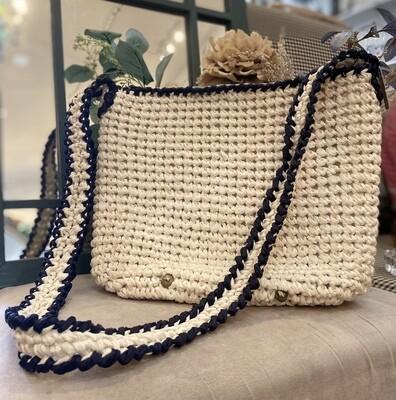 Magid Italian Off White Crochet Bag 14x10