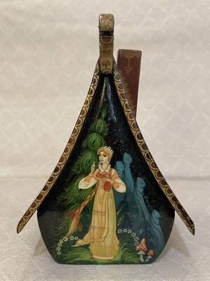 Hand Painted Russian Lacquer Box House