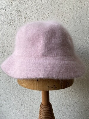 Fuzzy Pink Angora Bucket Hat
