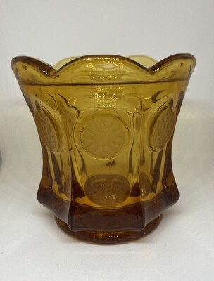 Vintage Fostoria Amber Glass Coin Candy Dish