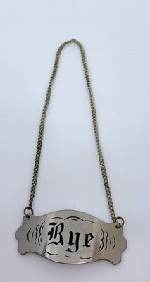 Antique Rye Decanter Whiskey  Tag