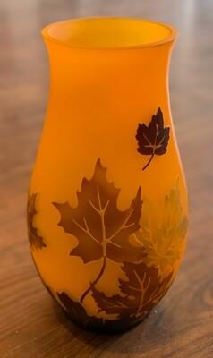 """Vintage Teleflora """"Leaves of Fall"""" Vase"""