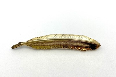 Gold Feather Bobby Pin