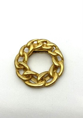 Gold Chain Clip Brooch