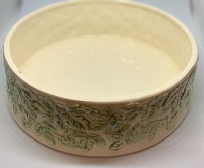 Mid Century Ceramic Holland Mold Green Leaves Bowl