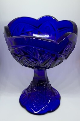 """Vintage Child's Cobalt Blue Punch Bowl Set 6"""""""