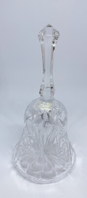 """Vintage Clear Glass 5"""" Dinner Bell"""