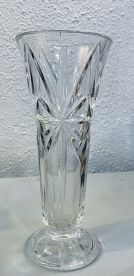 "Vintage Crystal Vase 24% Full Lead Made in Usa 7 3/16"""