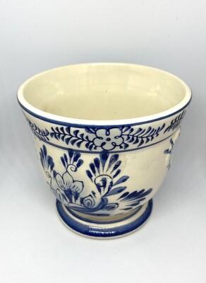 "Blue and White Ceramic Planter 3"" Tall"