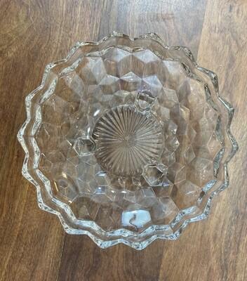 Antique Fostoria Shallow Glass Fruit Bowl