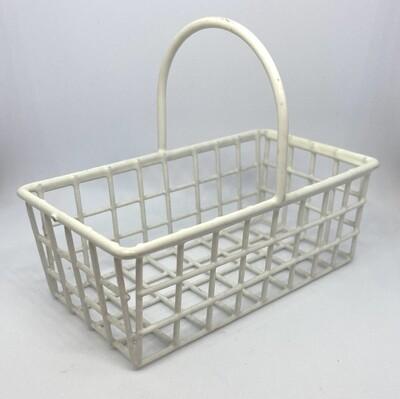 "White Metal Basket 4"" Wide"