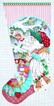 Peppermint Stick Santa Stocking (handpainted from Melissa ...