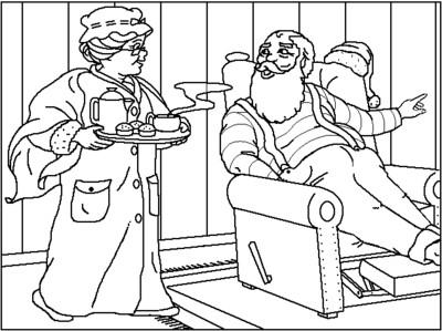 Nikolaus (zum Ausmalen)