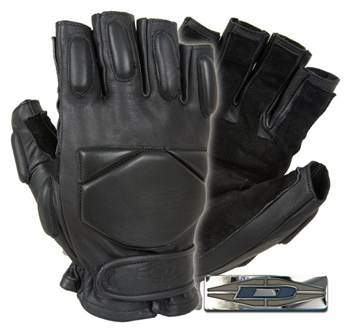 Responder™ - Leather gloves with reinforced palms (1/2 Finger) DRE-10